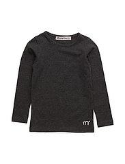 Basic T-shirt LS -solid - WARM GREYMELANGE