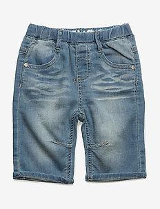 89 - Jeans 3/4 knit denim - shorts - fresh blue denim