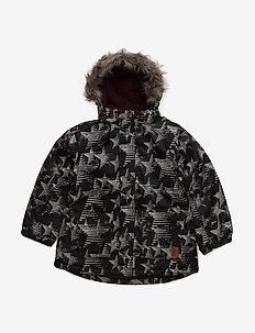 21 -Snow jacket -AOP - kurtka zimowa - grape wine