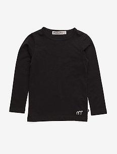 Basic T-shirt LS -solid - langermede t-skjorter - black