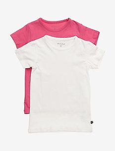 Basic T-shirt SS (2-pack) - DARK PINK