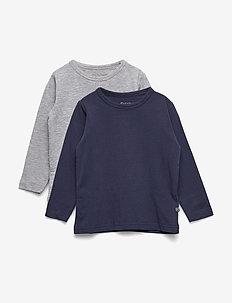 Basic T-shirt LS (2-pack) - DARK NAVY