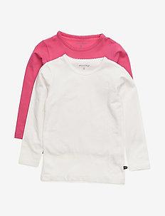 Basic T-shirt LS (2-pack) - DARK PINK