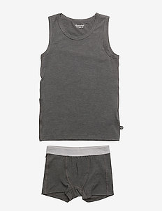 Underwear set - Bamboo - DARK GREY MELANGE