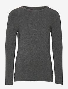 Blouse LS - Bamboo - dlugi-rekaw - dark grey melange