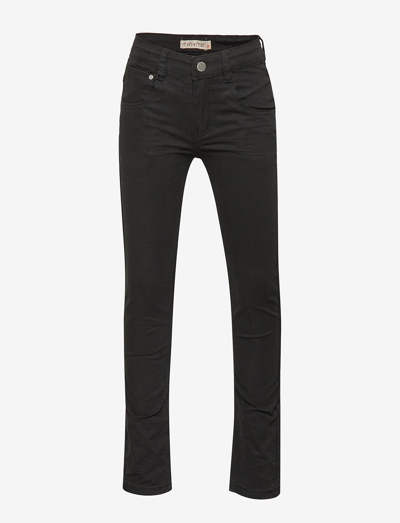 Minymo - Basic 84 -Pants twill-slim - trousers - anthracite - 0