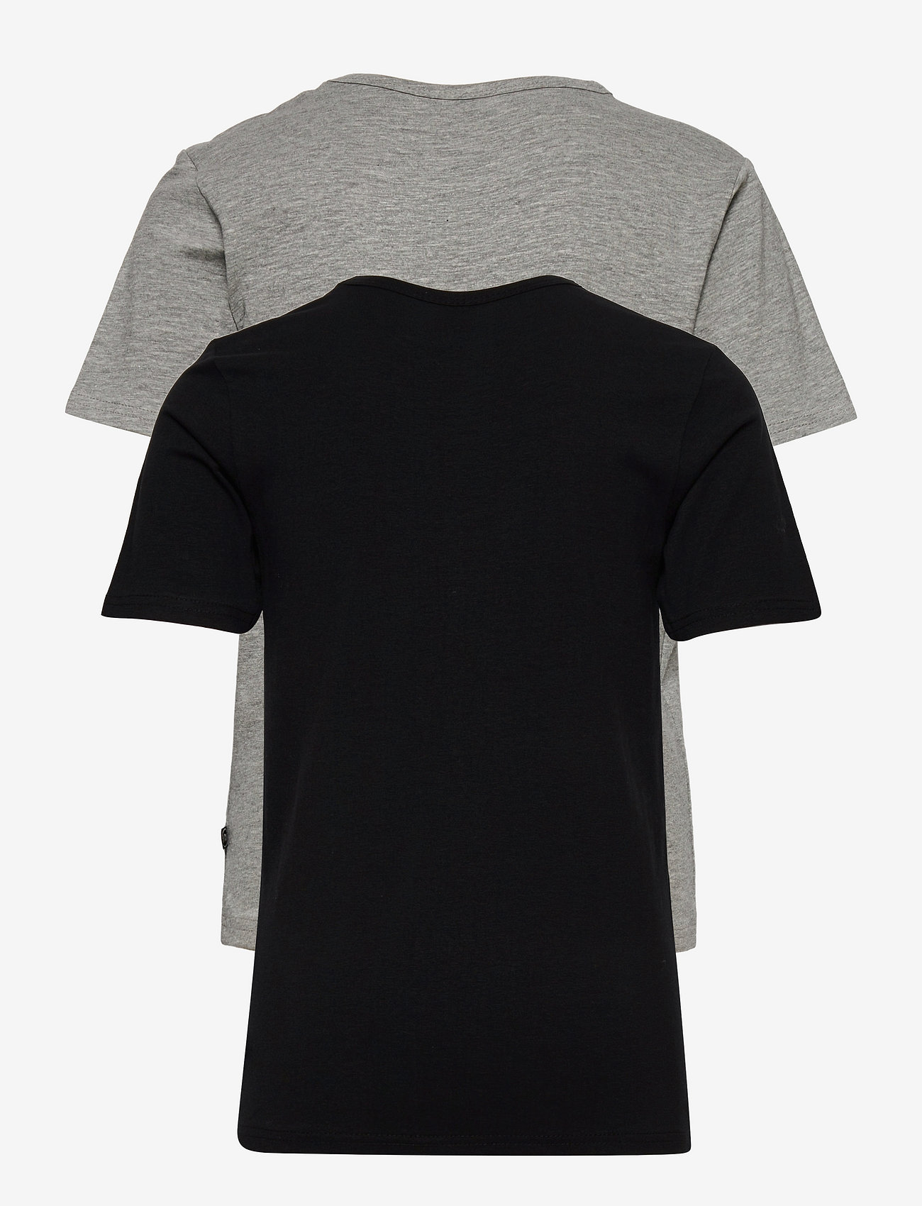 Minymo - Basic 32 -T-shirt SS (2-pack) - krótki rękaw - anthacite black - 1