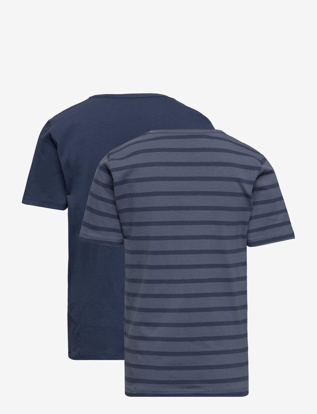 Minymo - Basic 32 -T-shirt SS (2-pack) - t-krekli ar īsām piedurknēm - new navy - 1