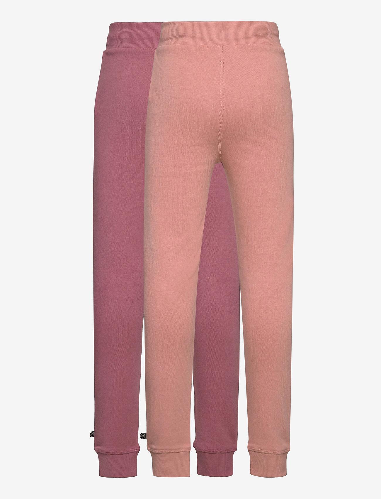 Minymo - Basic Sweat pant (2-pack) - spodnie dresowe - mesa rose - 1