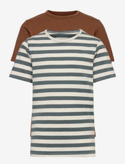 Basic 32 -T-shirt SS (2-pack) - TOFFEE
