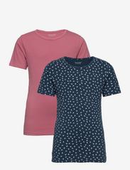 Basic 33 -T-shirt SS (2-pack) - MESA ROSE