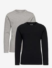 Basic 34 -T-shirt LS (2-pack) - ANTHACITE BLACK