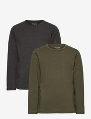Basic 34 -T-shirt LS (2-pack) - BEETLE