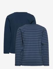 Minymo - Basic 34 -T-shirt LS (2-pack) - dlugi-rekaw - new navy - 1