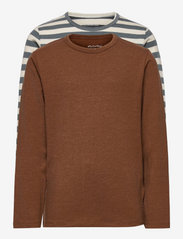 Basic 34 -T-shirt LS (2-pack) - TOFFEE