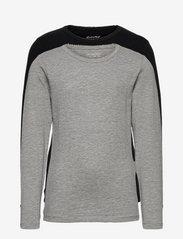 Basic 35 -T-shirt LS (2-pack) - ANTHACITE BLACK