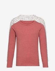 Basic 35 -T-shirt LS (2-pack) - CANYON ROSE