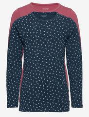 Basic 35 -T-shirt LS (2-pack) - MESA ROSE