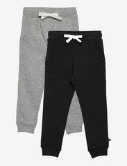 Basic 36 -Sweat pant (2-pack) - ANTHACITE BLACK