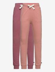 Minymo - Basic Sweat pant (2-pack) - spodnie dresowe - mesa rose - 0