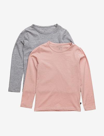 Basic T-shirt LS (2-pack) - long-sleeved t-shirts - blusher