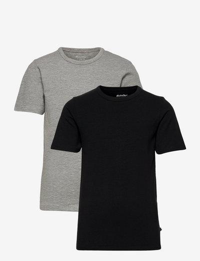 Basic 32 -T-shirt SS (2-pack) - short-sleeved - anthacite black