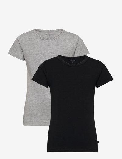 Basic T-shirt SS (2-pack) - short-sleeved - anthacite black