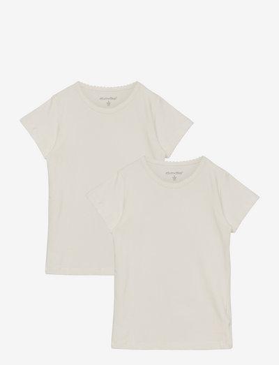 Basic T-shirt SS (2-pack) - short-sleeved - white