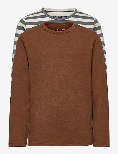 Basic 34 -T-shirt LS (2-pack) - long-sleeved t-shirts - toffee