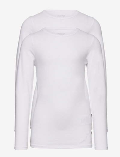 Basic T-shirt LS (2-pack) - long-sleeved t-shirts - white