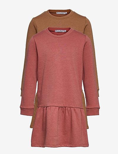Sweat Dress LS (2-pack) - dresses - canyon rose