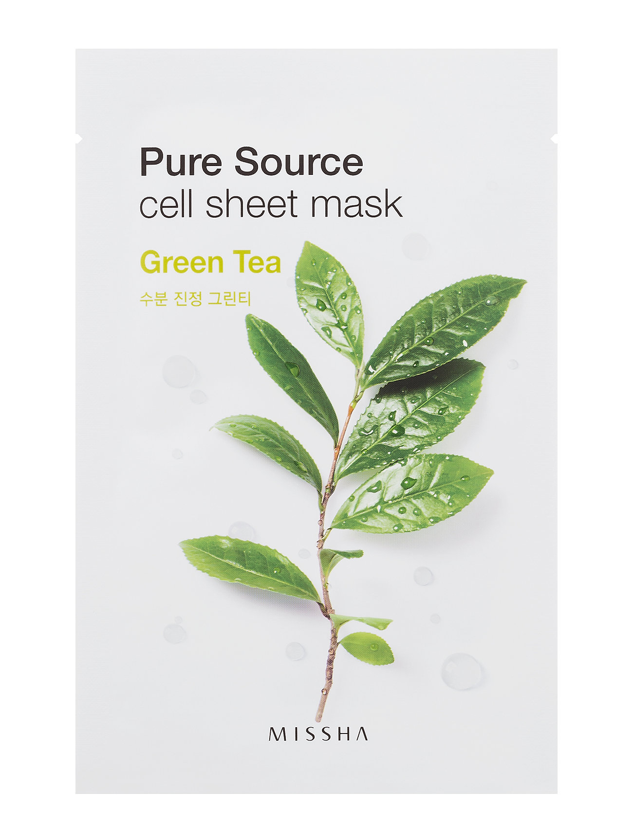 Missha Pure Source Cell Sheet Mask (Green Tea) - Missha