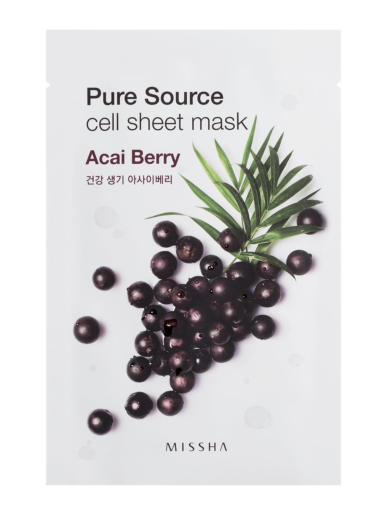Missha Pure Source Cell Sheet Mask (Acai Berry) - Missha