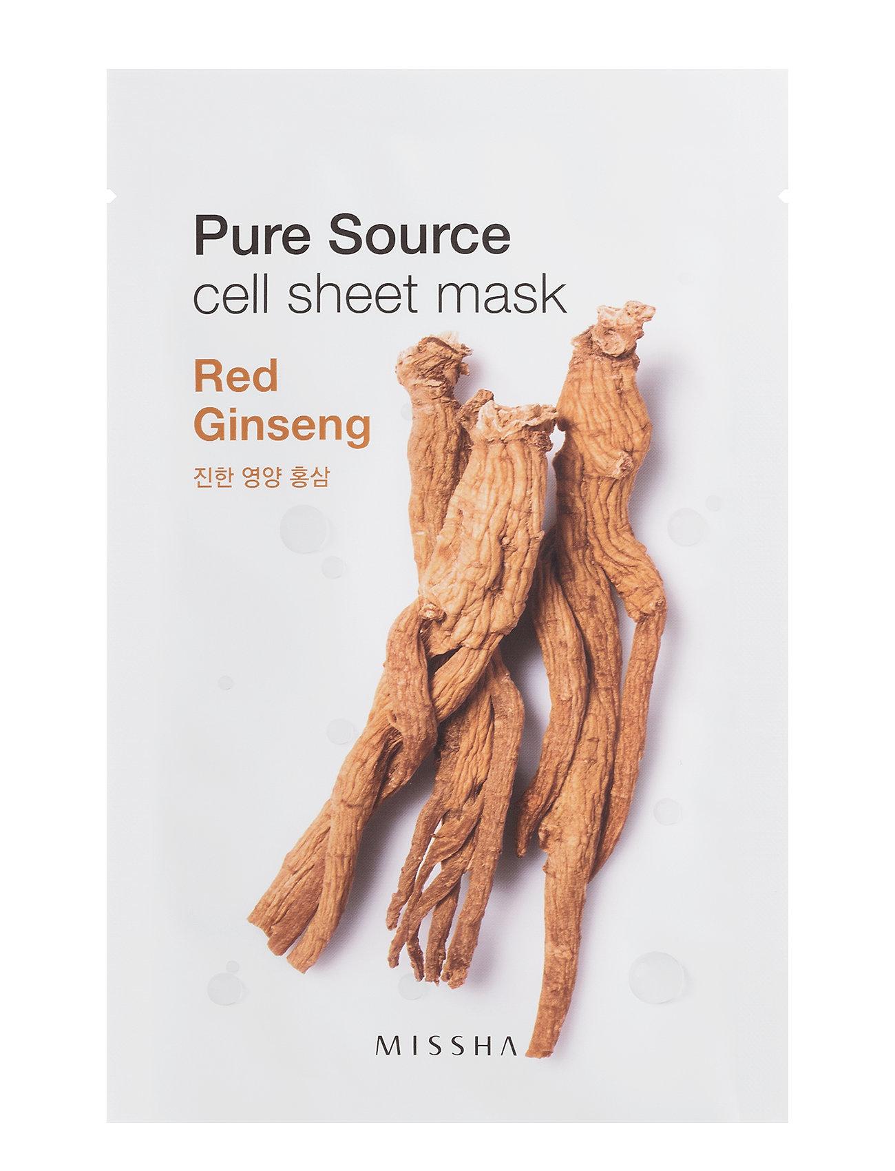 Missha Pure Source Cell Sheet Mask (Red Ginseng) - Missha