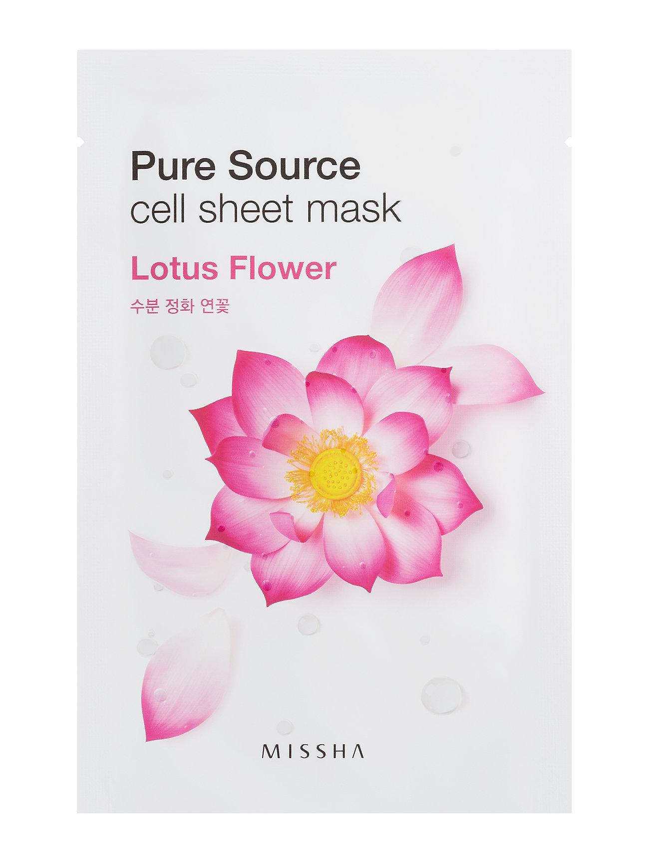 Missha Pure Source Cell Sheet Mask (Lotus) - Missha