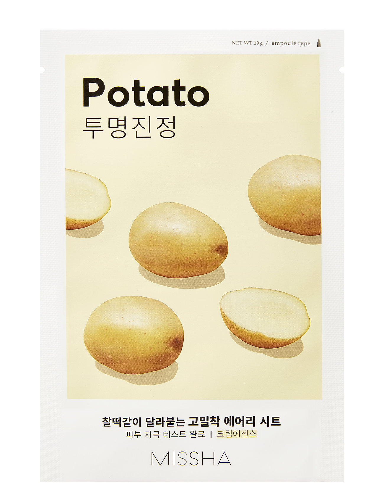 Missha MISSHA Airy Fit Sheet Mask (Potato) - CLEAR