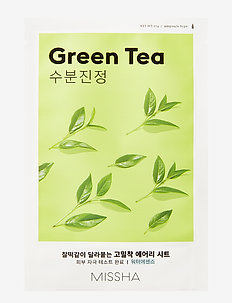 MISSHA Airy Fit Sheet Mask (Green Tea) - sheet mask - clear