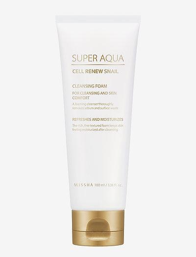 Missha Super Aqua Cell Renew Snail Cleansing Foam - rensegel - clear