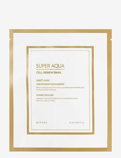 Missha Super Aqua Cell Renew Snail Hydro Gel Mask - NO COLOUR