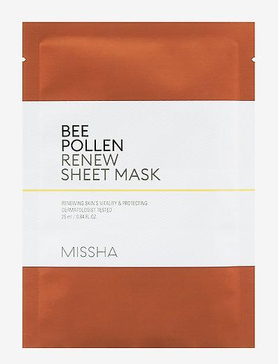 Missha Bee Pollen Renew Sheet Mask - sheet mask - clear