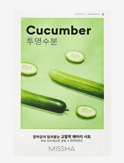 MISSHA Airy Fit Sheet Mask (Cucumber) - sheet mask - clear