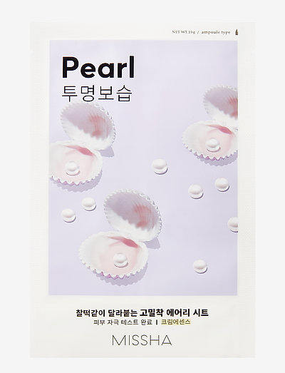 MISSHA Airy Fit Sheet Mask (Pearl) - sheet mask - clear