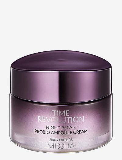 MISSHA Time Revolution Night Repair Probio Ampoule Cream - nattkrem - clear
