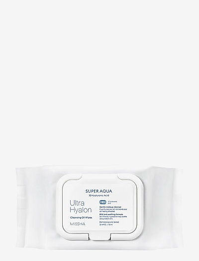 MISSHA Super Aqua Ultra Hyalron Oil In Tissue - makeupfjerner - clear