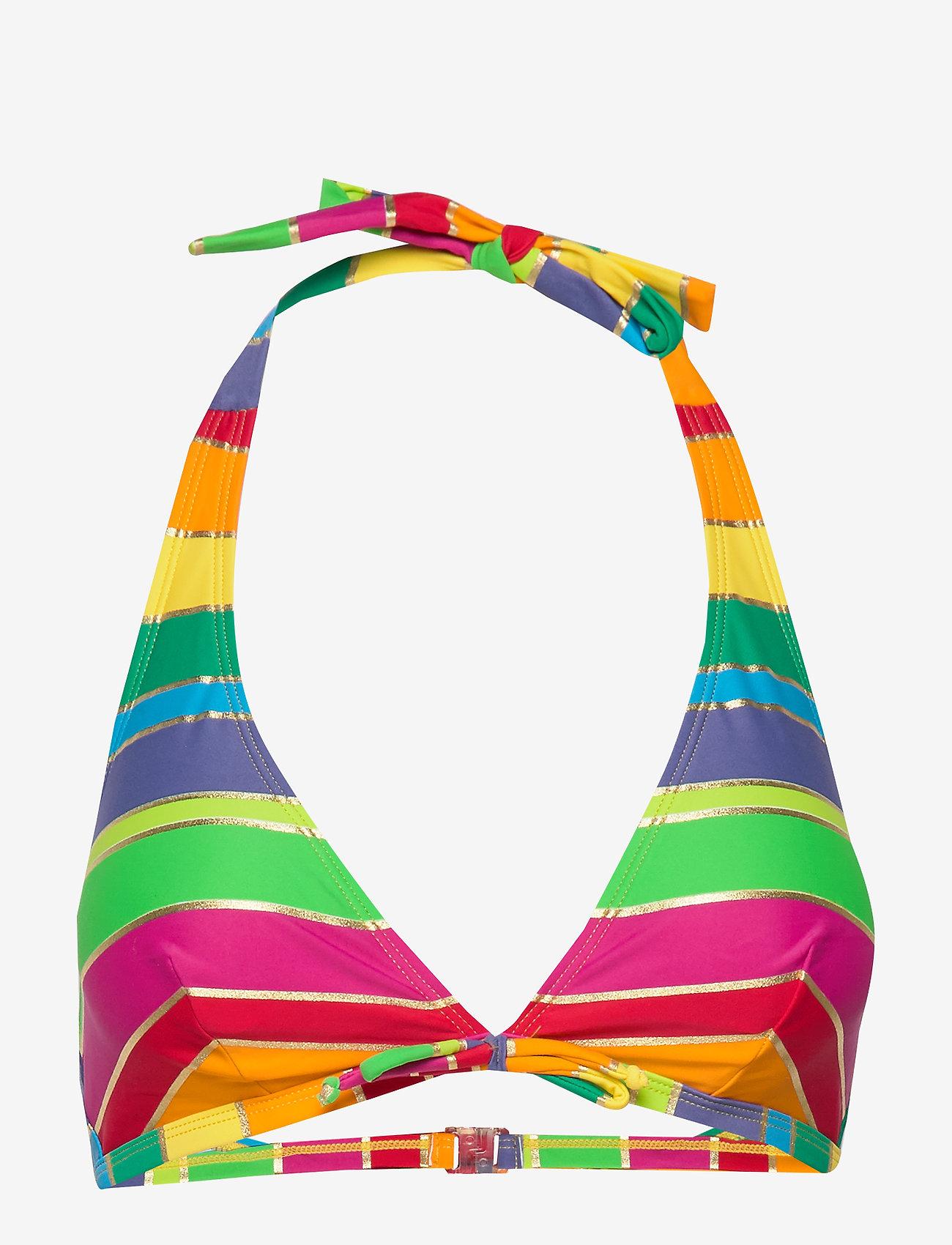 Missya - Monte Carlo bando fill - bikinitoppar - pink/yellow/gold stripes - 0