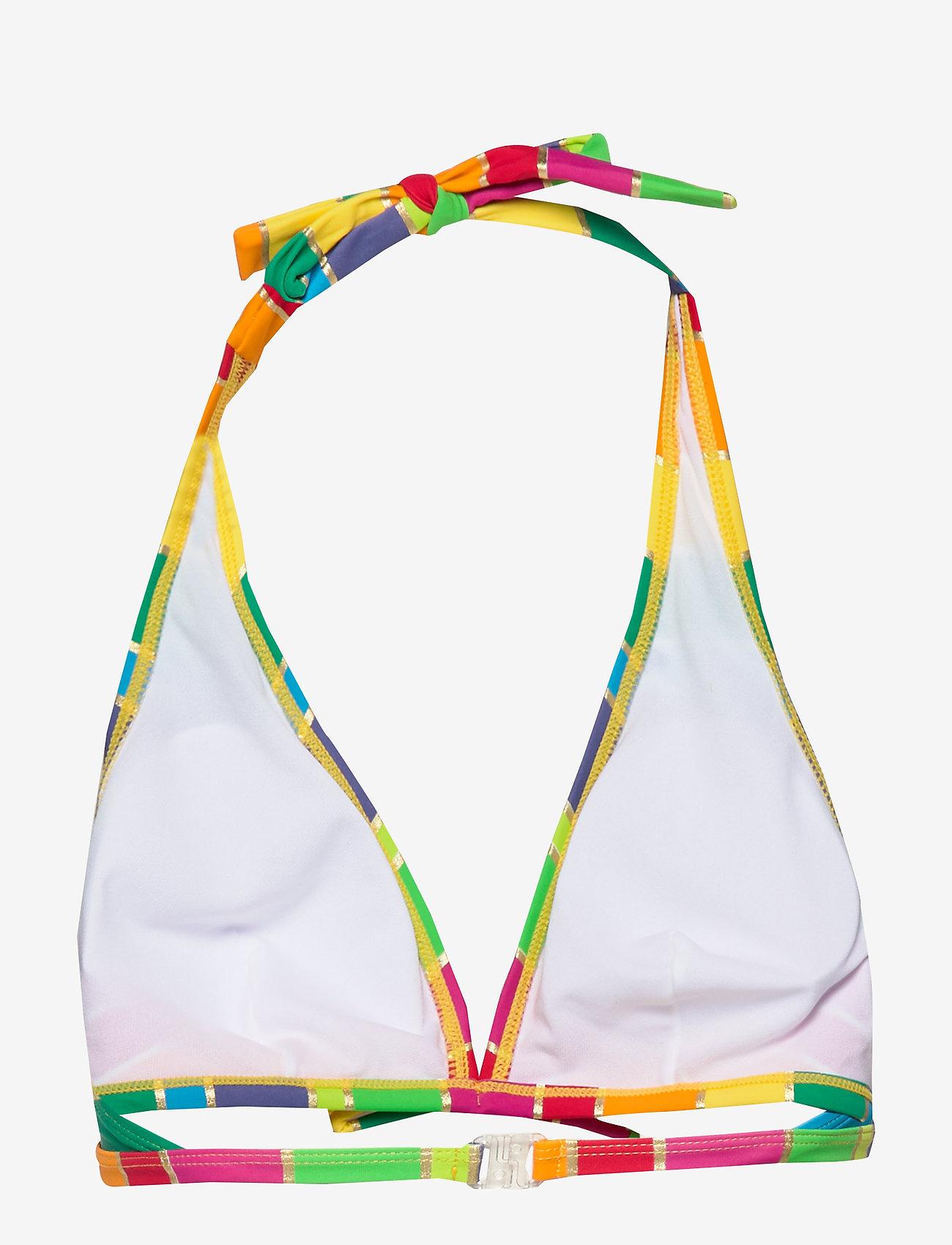 Missya - Monte Carlo bando fill - bikinitoppar - pink/yellow/gold stripes - 1