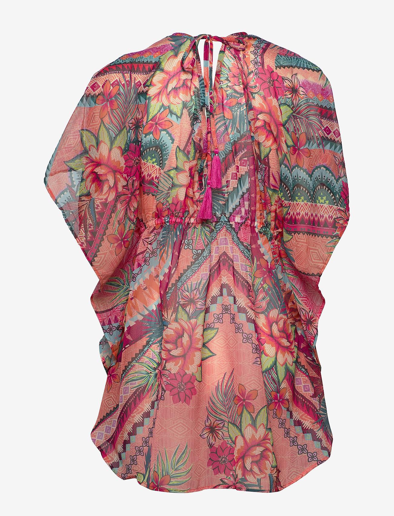 Marabella Beach Poncho Aop (Flower Print) - Missya cOlohp