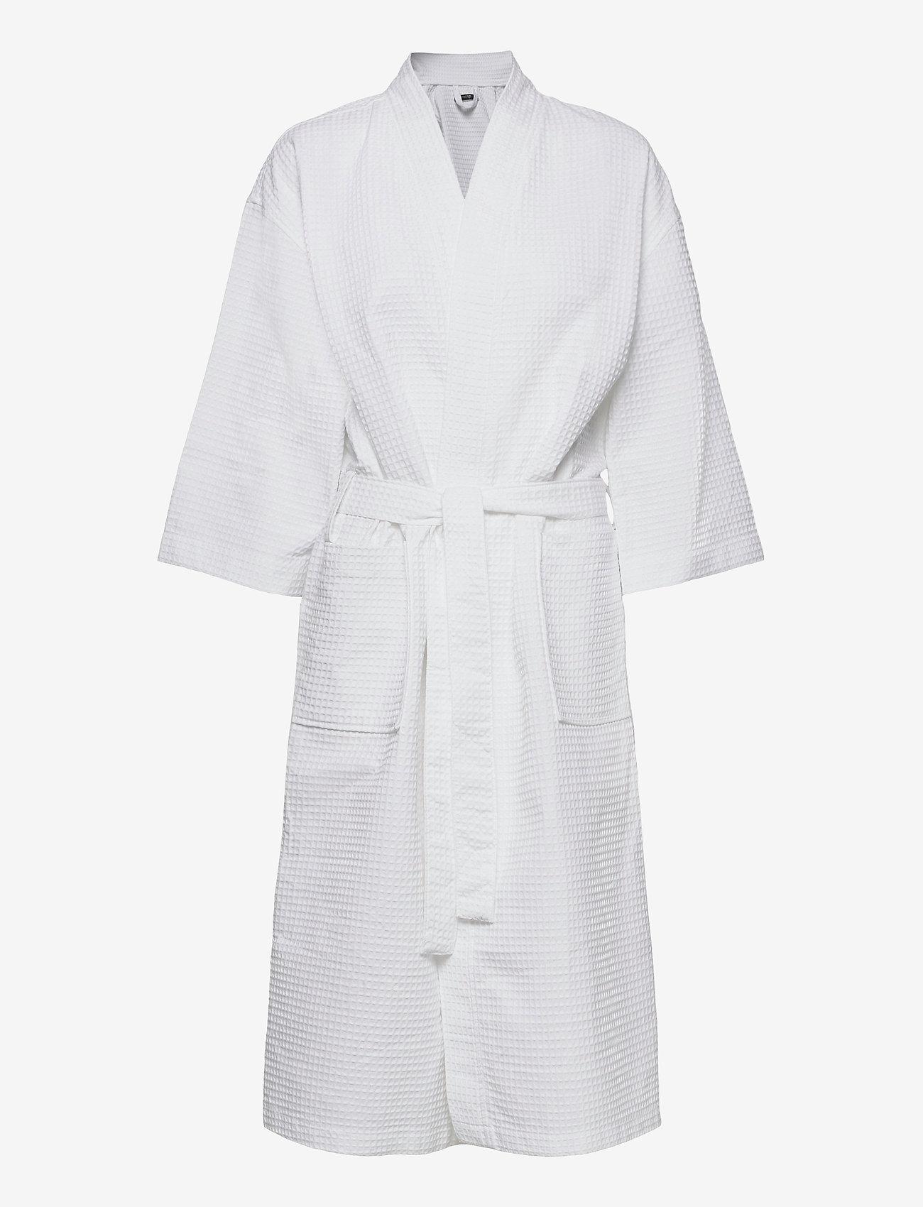 Missya - Honeycomb robe cotton - pegnoirs - white - 0