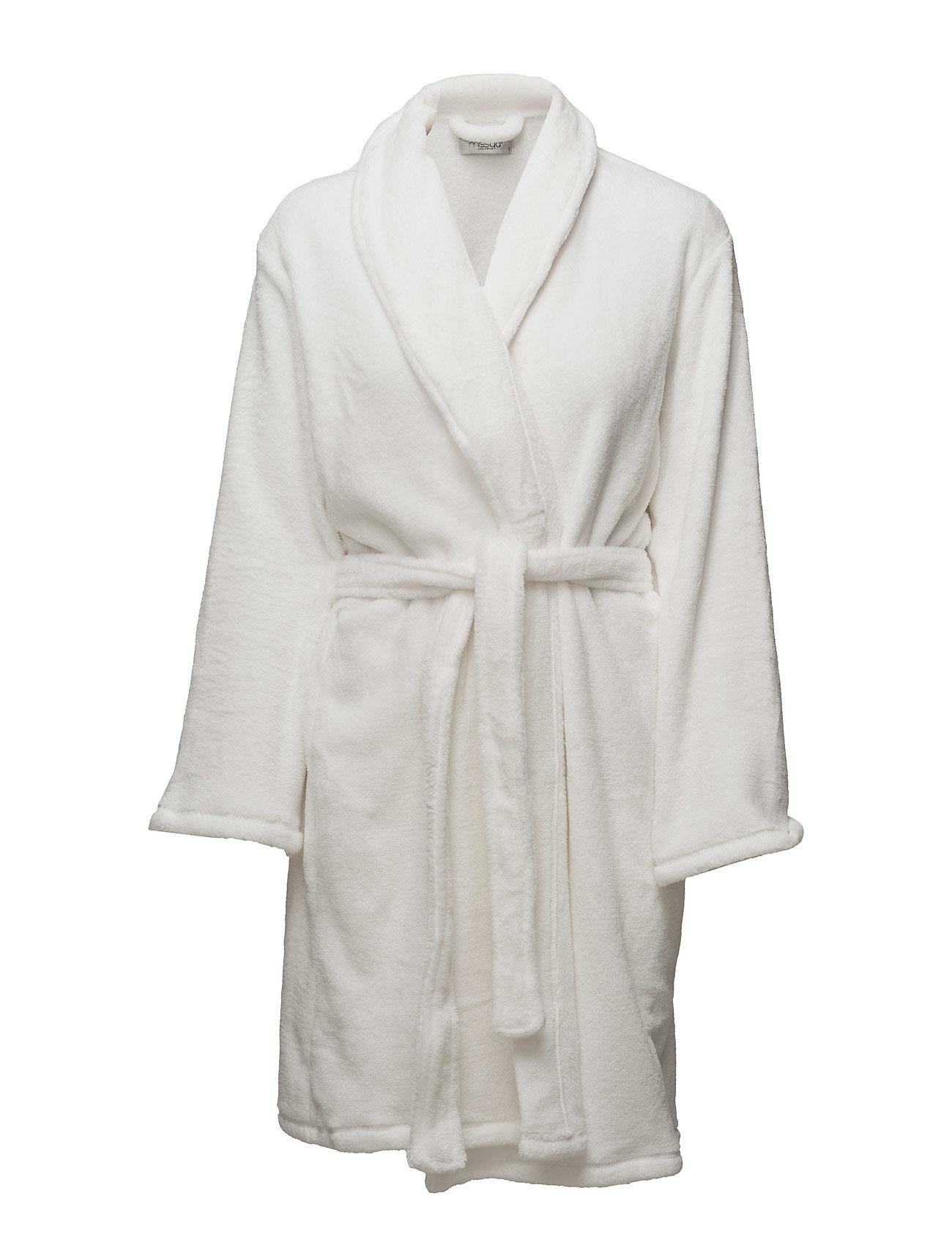 Missya Cornflocker fleece robe short - IVORY