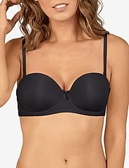Missya - Mary bra fill strapless - balconette bh - black - 4